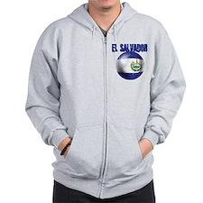 Futbol de El Salvador Zip Hoodie