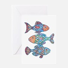 Fishes 3 Greeting Card