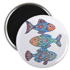 "Fishes 3 2.25"" Magnet (10 pack)"