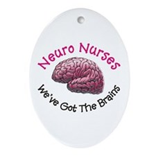 Neuro Nurse Ornament (Oval)