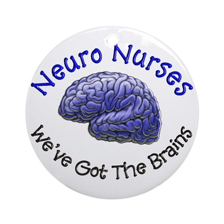 Neuro Nurse Ornament (Round)