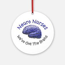 Neuro Nurse Ornament (Round)