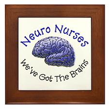 Neuro Nurse Framed Tile