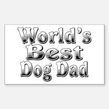 WORLDS BEST Dog Dad Sticker (Rectangle)