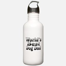 WORLDS BEST Dog Dad Water Bottle