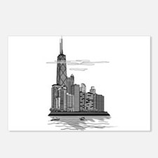 Chicago Skyline Art Postcards (Package of 8)