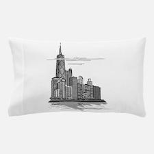 Chicago Skyline Art Pillow Case