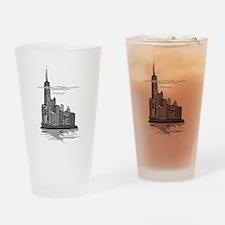Chicago Skyline Art Drinking Glass