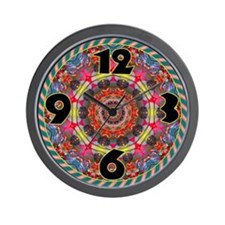 Psychedelic Berry Burst Retro Wall Clock