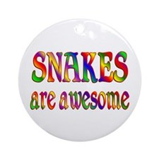 Awesome SNAKES Ornament (Round)