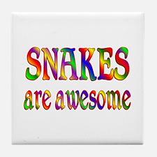 Awesome SNAKES Tile Coaster