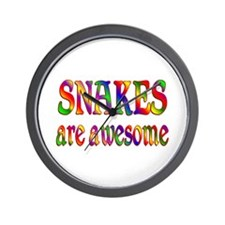 Awesome SNAKES Wall Clock