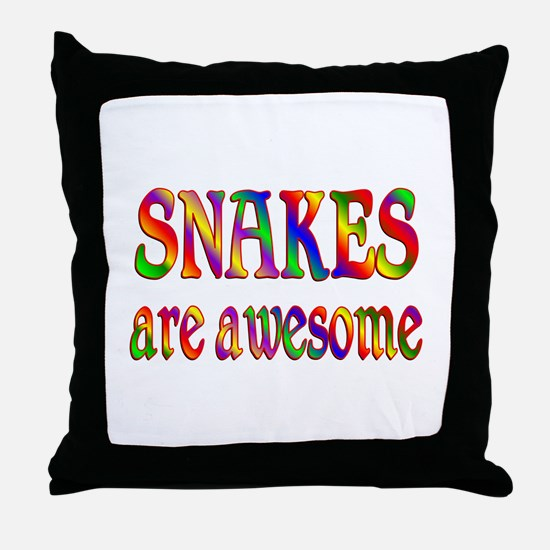Awesome SNAKES Throw Pillow