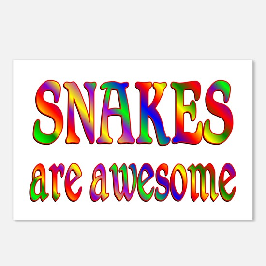 Awesome SNAKES Postcards (Package of 8)