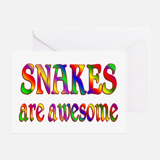 Awesome SNAKES Greeting Card