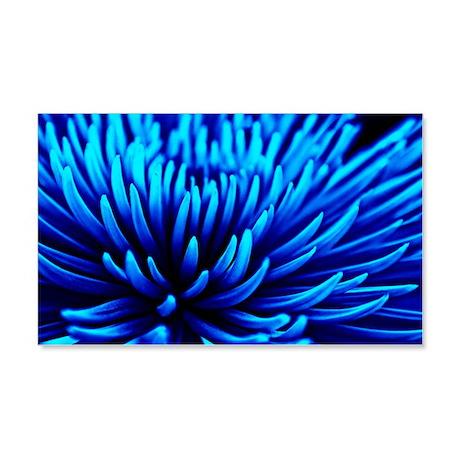 Blue Chrysanthemum flower 20x12 Wall Decal