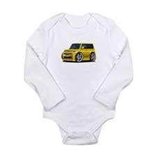 Scion XB Yellow Car Long Sleeve Infant Bodysuit