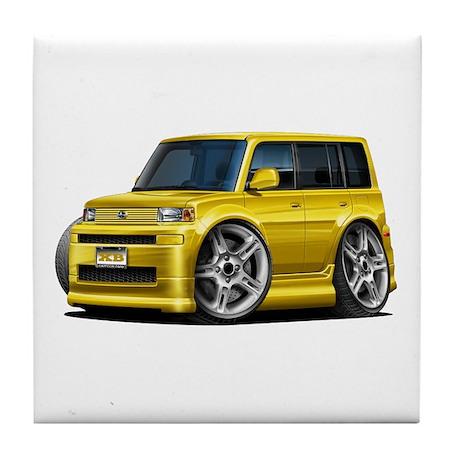Scion XB Yellow Car Tile Coaster