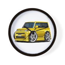 Scion XB Yellow Car Wall Clock