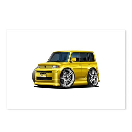 Scion XB Yellow Car Postcards (Package of 8)