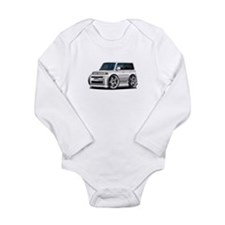 Scion XB White Car Long Sleeve Infant Bodysuit