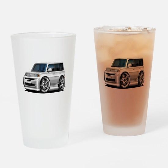 Scion XB White Car Drinking Glass