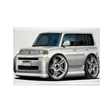 Scion XB White Car Rectangle Magnet