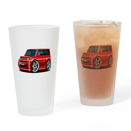 Scion XB Red Car Drinking Glass