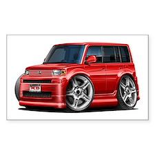 Scion XB Red Car Decal