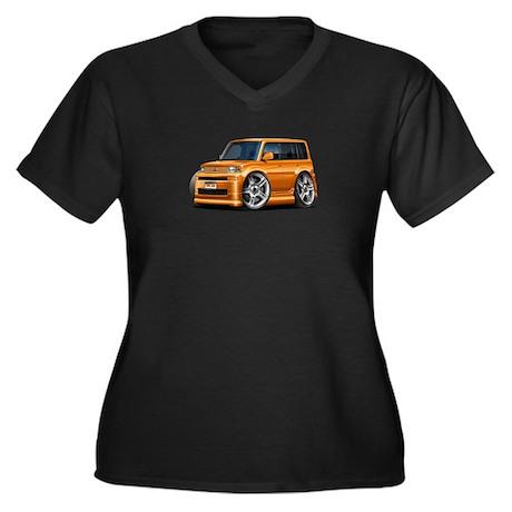 Scion XB Orange Car Women's Plus Size V-Neck Dark