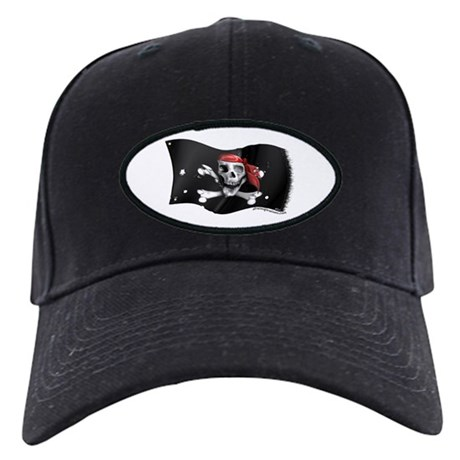Caribbean Pirate Battle Flag Black Cap