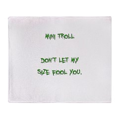 Mini Troll Throw Blanket