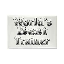 WORLDS BEST Trainer Rectangle Magnet