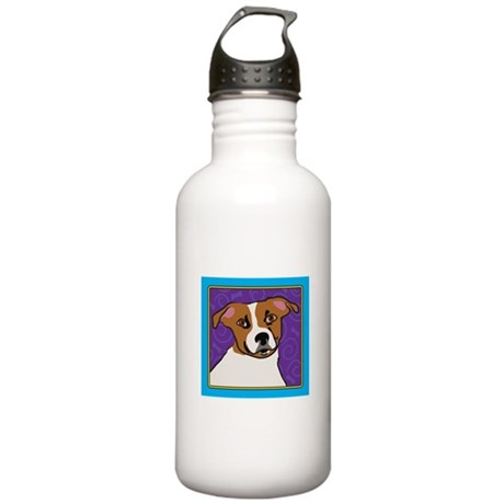 Jack Russell Cartoon Stainless Water Bottle 1.0L
