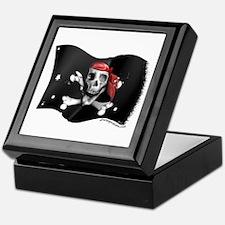 Caribbean Pirate Flag Keepsake Box