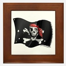 Caribbean Pirate Flag Framed Tile