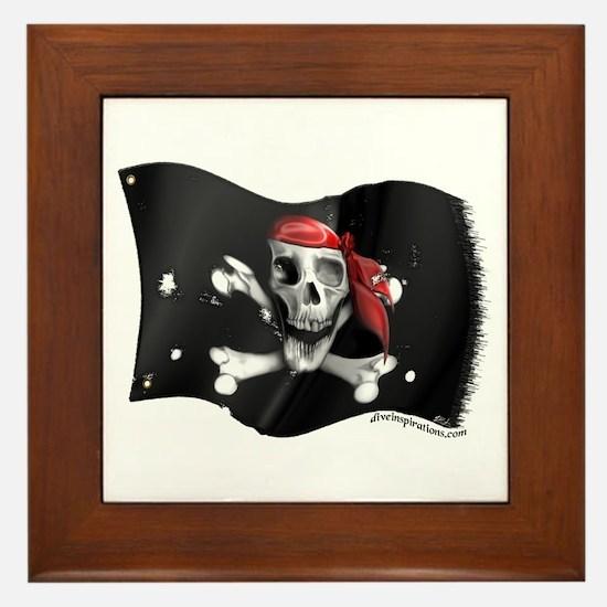 Caribbean Pirate Flag Framed Tile
