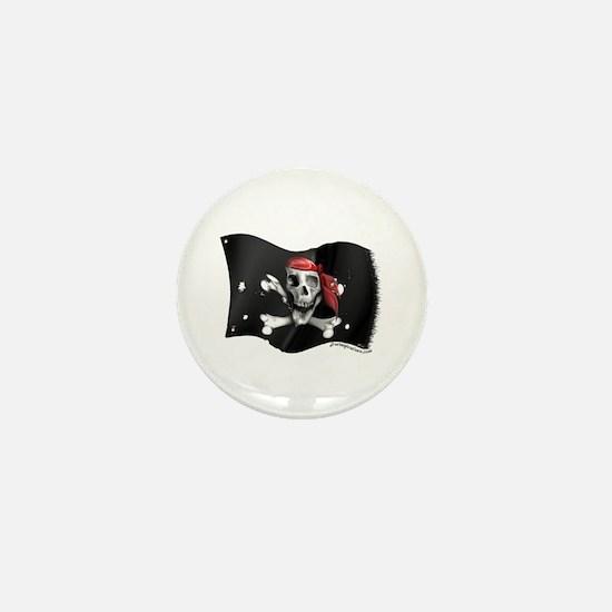Caribbean Pirate Flag Mini Button
