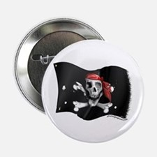 Caribbean Pirate Flag Button
