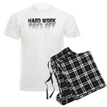 HARD WORK PAYS OFF Men's Light Pajamas
