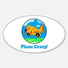 Plane Crazy Kids Oval Decal