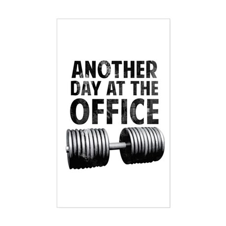 Another day at the office Sticker (Rectangle)