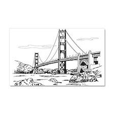 Golden Gate Bridge Car Magnet 20 x 12