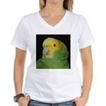 Wasabi/ Double Yellow-headed Women's V-Neck T-Shir