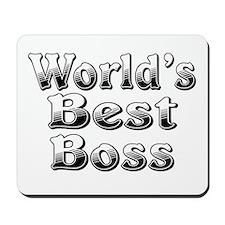 WORLDS BEST Boss Mousepad