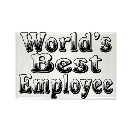 WORLDS BEST Employee Rectangle Magnet