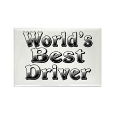 WORLDS BEST Driver Rectangle Magnet