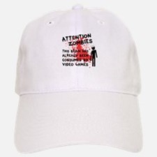 Attention Zombies Baseball Baseball Cap