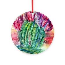 Bright, cactus art Ornament (Round)