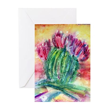 Bright, cactus art Greeting Card